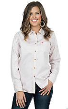 Ariat Work FR Women's Pink Stripe Long Sleeve Flame Resistant Work Shirt 10017020