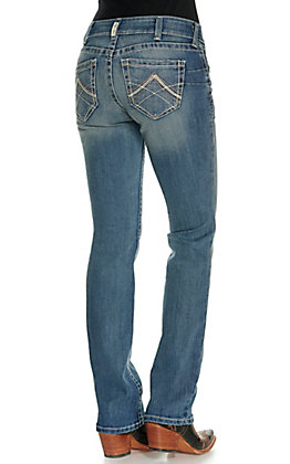 Ariat Women's Real Rainstorm Medium Wash Straight Leg Jeans