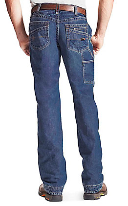 Ariat Work FR Men's Dark Wash Low Rise Boot Cut Fire Resistent Utility Jeans