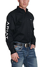 Ariat Men's Black Team Logo Twill L/S Western Shirt