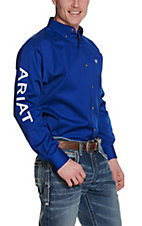 Ariat Men's Ultramarine Blue Team Logo Twill L/S Western Shirt