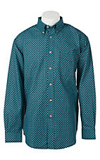 Ariat Work FR Men's Navy Print Long Sleeve Flame Resistant Work Shirt 10017504