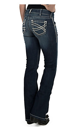 Ariat REAL Denim Women's Entwined Medium Wash Boot Cut Leg Stretch Jeans