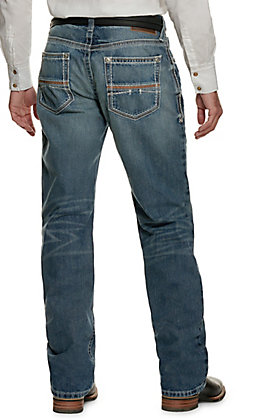 Ariat Men's M4 Low Rise Coltrane Durango Medium Wash Boot Cut Jean - Extended Sizes (42-44)