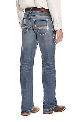 Ariat Men's M4 Low Rise Coltrane Durango Medium Wash Boot Cut Jean