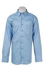 Ariat Men's Solid Noon Sky Blue Western Shirt - Big & Tall