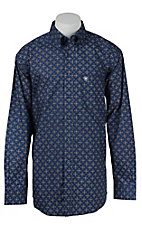Ariat Men's Crosby Blue Print Western Shirt