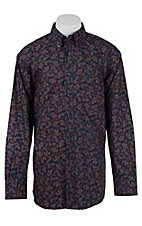 Ariat Men's Jackson Navy Print Western Shirt