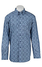 Ariat Men's Joel Blue Print Western Shirt