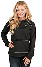AriatTEK Women's Black Conquest Long Sleeve Hoodie Pullover