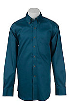 Ariat Men's Solid Moroccan Blue Western Shirt - Big & Tall