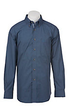 Ariat Pro Series Men's Purple and Blue Grid Pattern Western Shirt - Big & Tall