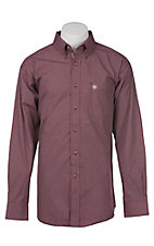 Ariat Pro Series Men's Dark Cherry Check Western Shirt