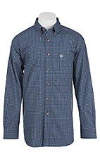 Ariat Pro Series Men's Midsummer Night Grid Pattern Western Shirt - Big & Tall
