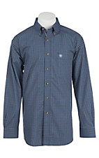 Ariat Pro Series Men's Midsummer Night Grid Pattern Western Shirt