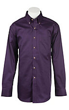 Ariat Men's Solid Purple Western Shirt - Big & Tall