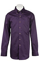 Ariat Men's Solid Purple Western Shirt