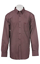 Ariat Men's Dark Cherry Circle Print Western Shirt