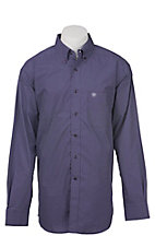 Ariat Men's Purple with White Diamond Pattern Western Shirt