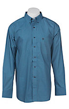 Ariat Men's Blue Mini Floral Print Western Shirt