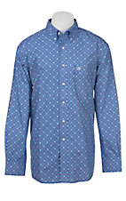 Ariat Men's Blue, Grey and Teal Victorian Print Western Shirt