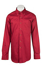 Ariat Men's Solid Red Western Shirt - Big & Tall