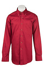 Ariat Men's Solid Red Western Shirt