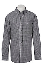 Ariat Pro Series Men's Black and WHite Check Western Shirt