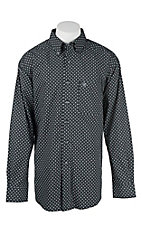 Ariat Men's Black and Grey Aztec Print Western Shirt