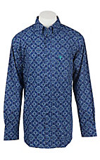 Ariat Men's Blue Print Western Shirt
