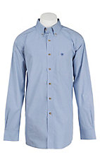 Ariat Pro Series Men's Blue Check Western Shirt