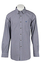 Ariat Men's Brown and Black Checked Western Shirt