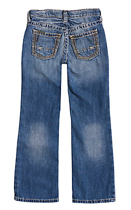 Ariat Boy's Medium Wash B4 Boundary Dakota Relax Fit Boot Cut Jeans