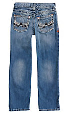 Ariat Boy's Medium Wash B5 Charger Dakora Slim Fit Straight Leg Jeans