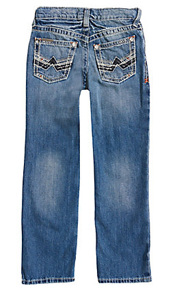 Ariat Boys' Medium Wash B5 Charger Dakora Slim Fit Straight Leg Jeans