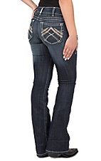 Ariat Women's REAL Low Rise Rosy Whipstitch Boot Cut Jean