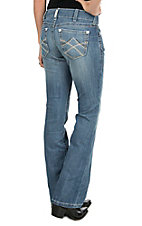 Ariat Women's Medium Wash Mid Rise Boot Cut Jeans