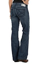 Ariat Women's Mid Rise Wide Leg Dark Wash Trouser Jeans