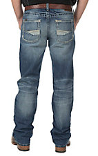 Ariat Men's Medium Wash M5 Slim Fit Straight Leg Jeans