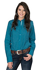 Ariat Women's Blue Medallion Print Long Sleeve Western Shirt