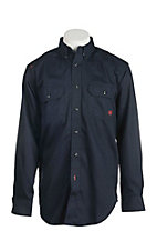 Ariat Work FR Men's Solid Navy Long Sleeve Flame Resistant Work Shirt