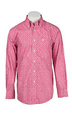 Ariat Men's Strawberry Medallion Print Long Sleeve Western Shirt