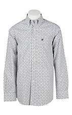 Ariat Men's Black and Grey Print L/S Western Shirt
