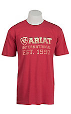 Ariat Men's Red with White Screenprint Design T-Shirt