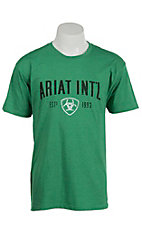 Ariat Men's Green with Black Screenprint Design T-Shirt
