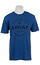 Ariat Men's Blue with Black Screenprint Design T-Shirt