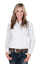Ariat Women's White Jacquard with Lace Details Long Sleeve Western Snap Shirt