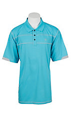 Ariat Men's Waterfall Heat Series Tek Links Polo Shirt