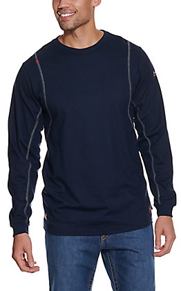 Ariat Men's Navy VentTEK CAT 2 Long Sleeve FR Work Shirt - Big & Tall