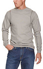 Ariat Work FR Men's Silver Fox HRC2 Crew Neck Long Sleeve Flame Resistant Shirt